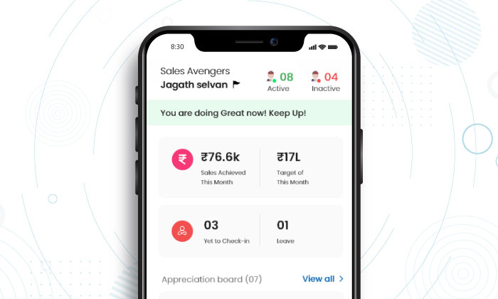 mobile sales tracking app